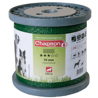 ЛЕНТА ДЛЯ ЭЛЕКТРОПАСТУХА CHAPRON GREEN TAPE 10 MM