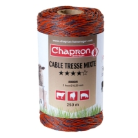 ПРОВОД ДЛЯ ЭЛЕКТРОПАСТУХА CHAPRON CABLE MIXTE TRESSE