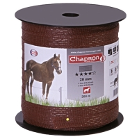 ЛЕНТА ДЛЯ ЭЛЕКТРОПАСТУХА CHAPRON RUBAN SUPERIEUR MARRON 20MM