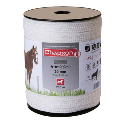 ЛЕНТА ДЛЯ ЭЛЕКТРОПАСТУХА CHAPRON RUBAN 20 MM ECO